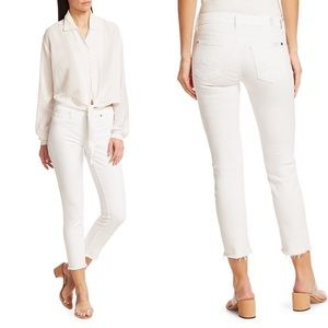 7 for All Mankind Roxanne Raw Hem Ankle Jeans